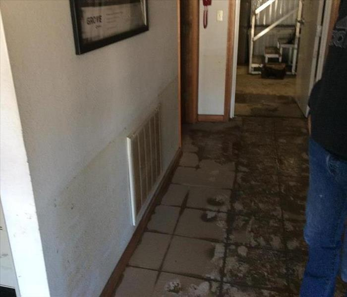 Commercial Flood Damage in Fenton, MO Before