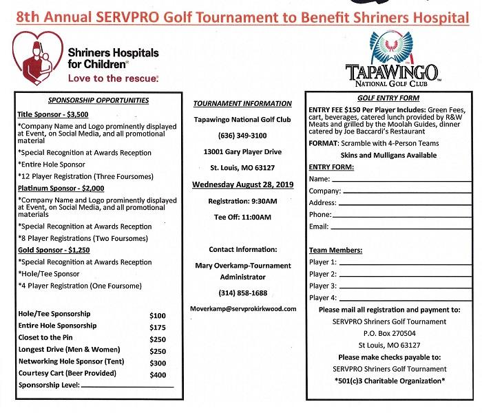 8th Annual Shriners Hospital Golf Tournament