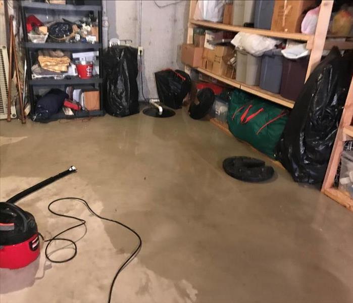Water Coming Up Through Basement Floor After Heavy Rain: SERVPRO Of West Kirkwood / Sunset Hills Gallery Photos