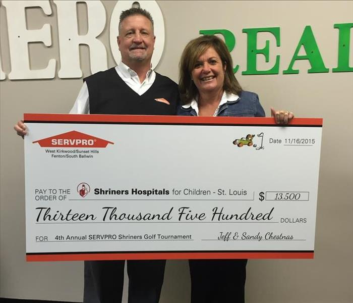 SERVPRO's Shriner's Hospital for Children Check Presentation